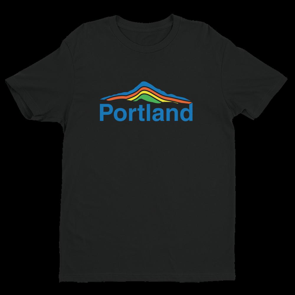 Portland Mt Hood - Unisex T Shirt - Black