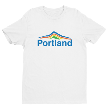 Portland Mt Hood T Shirt - White