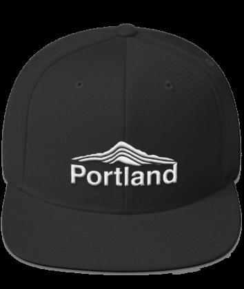 Portland - Mt Hood - Hat - Black