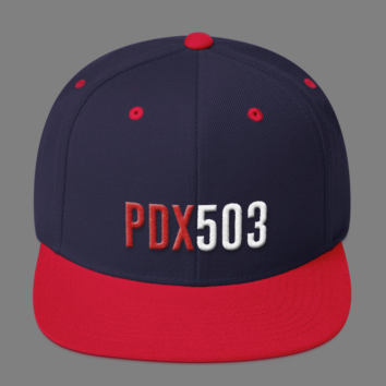 PDX 503 Hat - Navy/Red