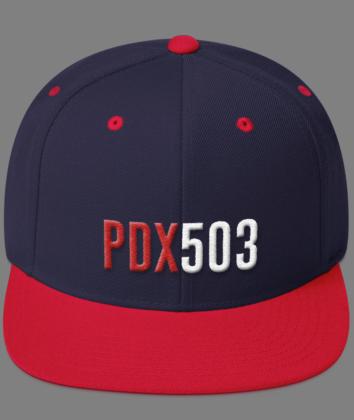 PDX 503 Hat - Navy/Red