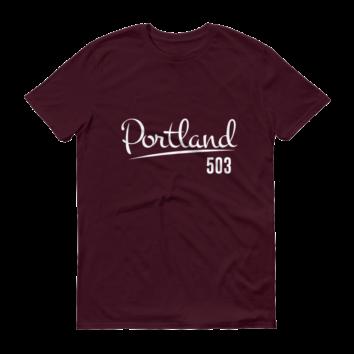 Portland 503 - T Shirt - Maroon