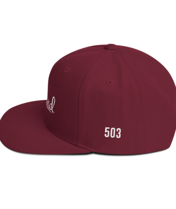 Portland 503 - Hat - Maroon - Side