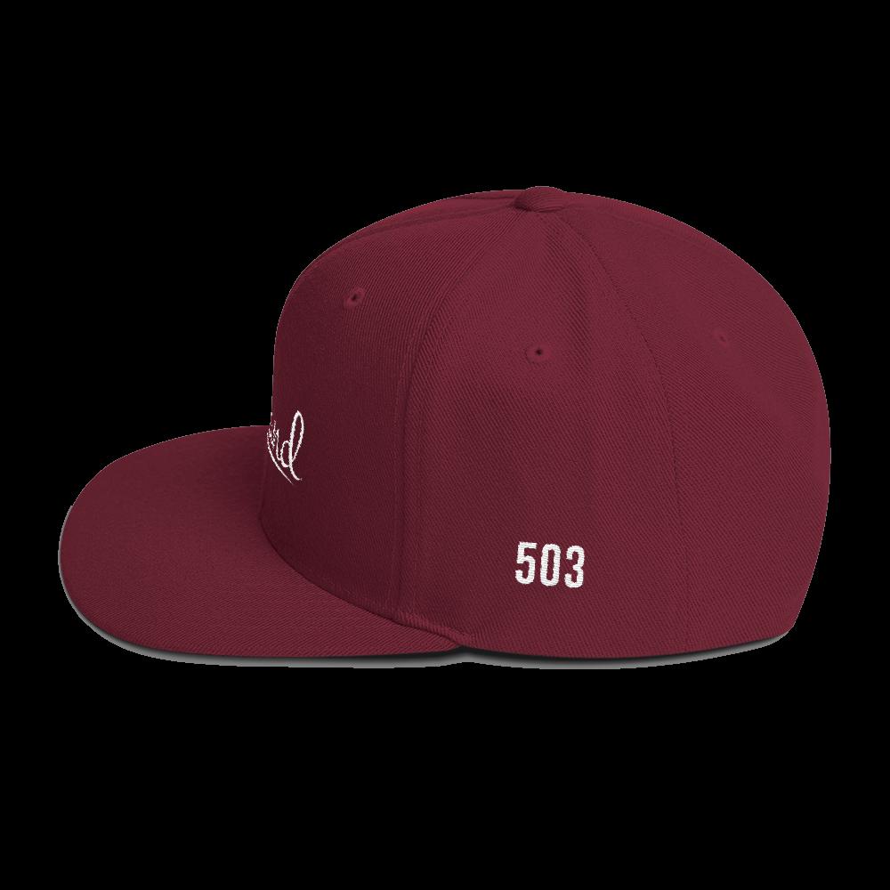Portland 503 - Hat - Maroon - Side