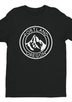 Portland Oregon - Mt Hood - T Shirt - Black