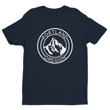 Portland Oregon - Mt Hood - T Shirt - Navy