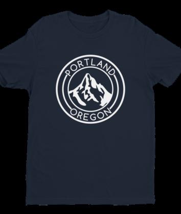 Portland Oregon - Mt Hood - T Shirt - Navy