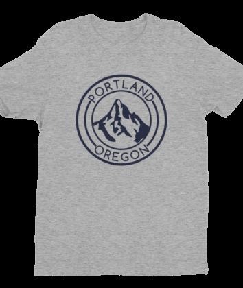 Portland Oregon - Mt Hood - T Shirt - Heather Grey