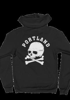Portland Cross bones - Zip Hoodie