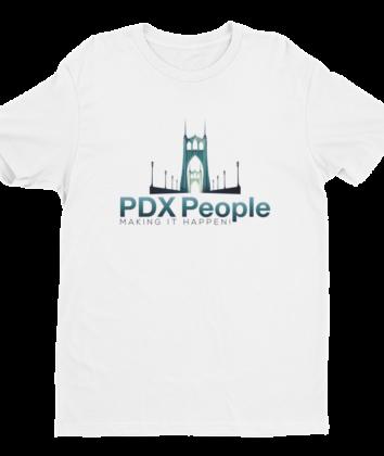 PDX People - St Johns Bridge - T Shirt - White