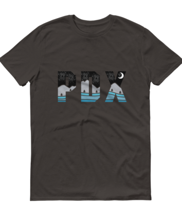 PDX Nights - T Shirt - Grey