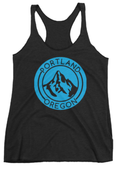 Portland Oregon - Mt Hood - Tank Top - Black