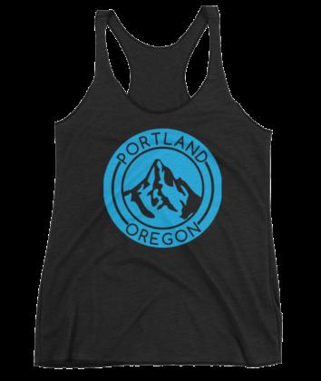 Portland Oregon - Mt Hood - Tank Top - Black