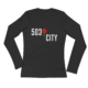 503 Rose City - Ladies - Long Sleeve Jersey T-Shirt - Black