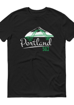Fremont Bridge - Portland 503 T Shirt - Black
