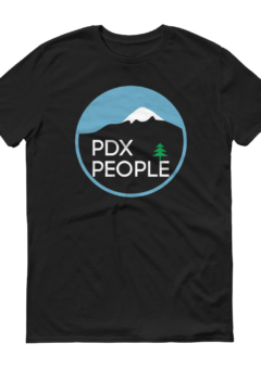 PDX People Mt Hood - T Shirt - BlackBlue