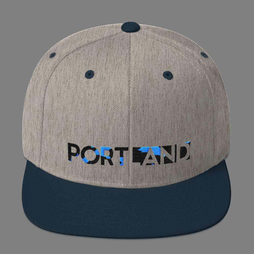 Portland Happening - Camo - Hat - Grey/Navy