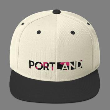 Portland Happening - Camo - Hat - White/Black