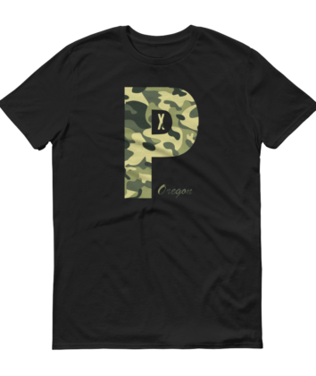 PDX Oregon - Camo - T Shirt - Black