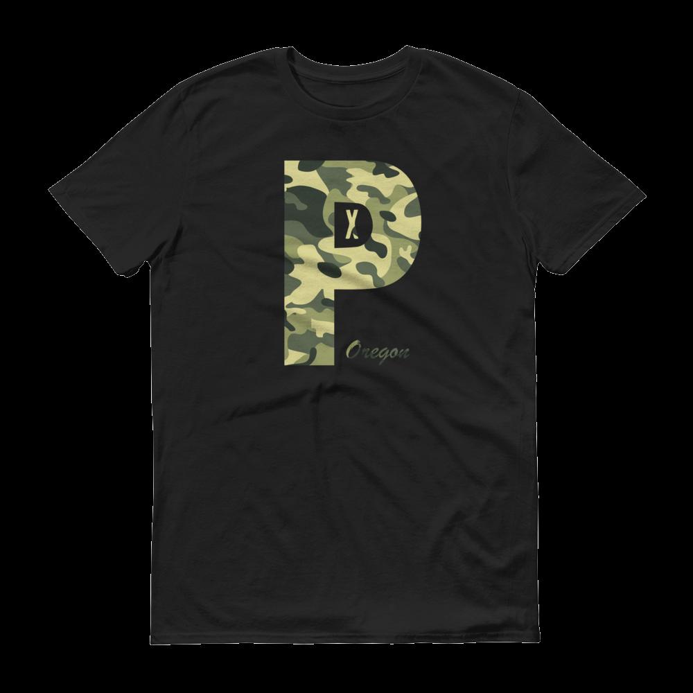 PDX Oregon - Camo - T Shirt - Black