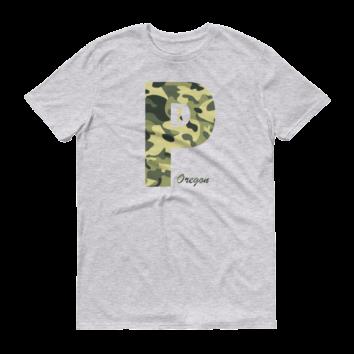 PDX Oregon - Camo - T Shirt - Heather