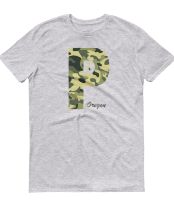 PDX Oregon - Camo - T Shirt - Heather
