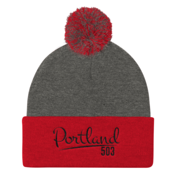 Portland 503 - Pom Pom Beanie - Red