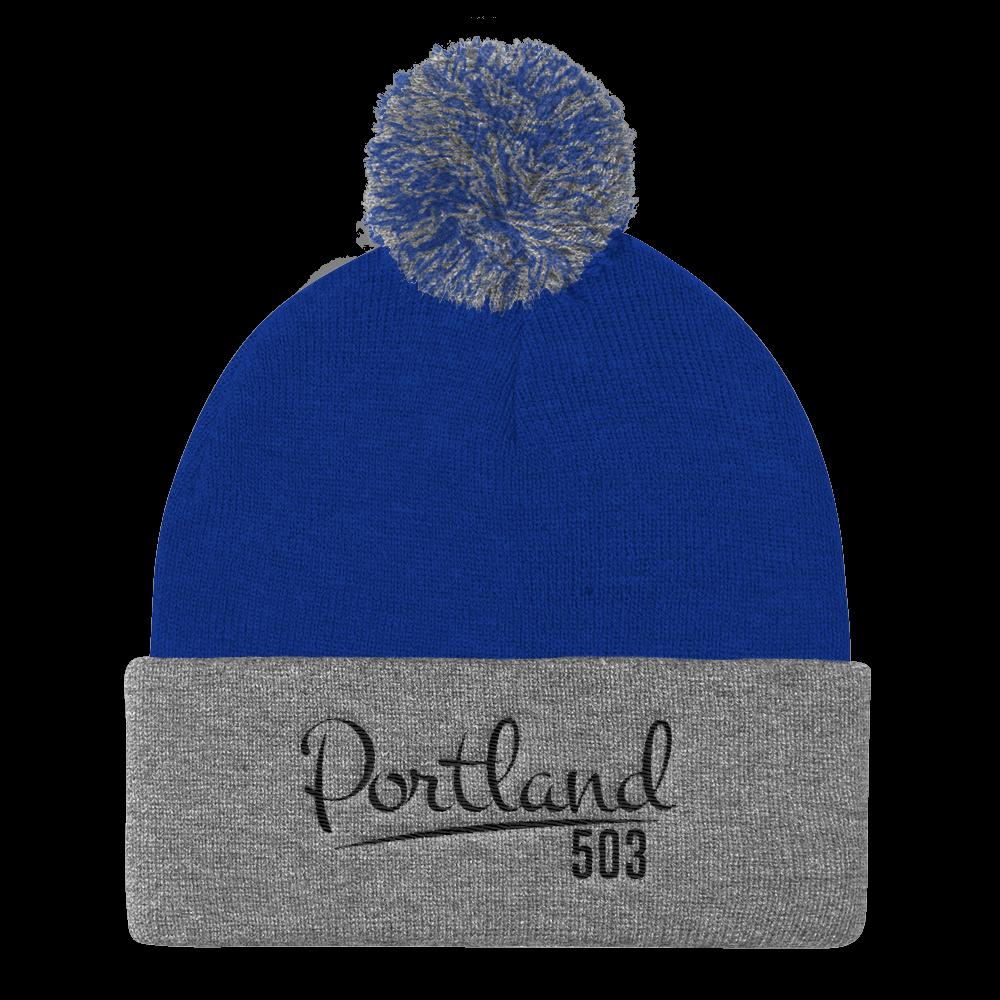 Portland 503 - Pom Pom Beanie - Blue