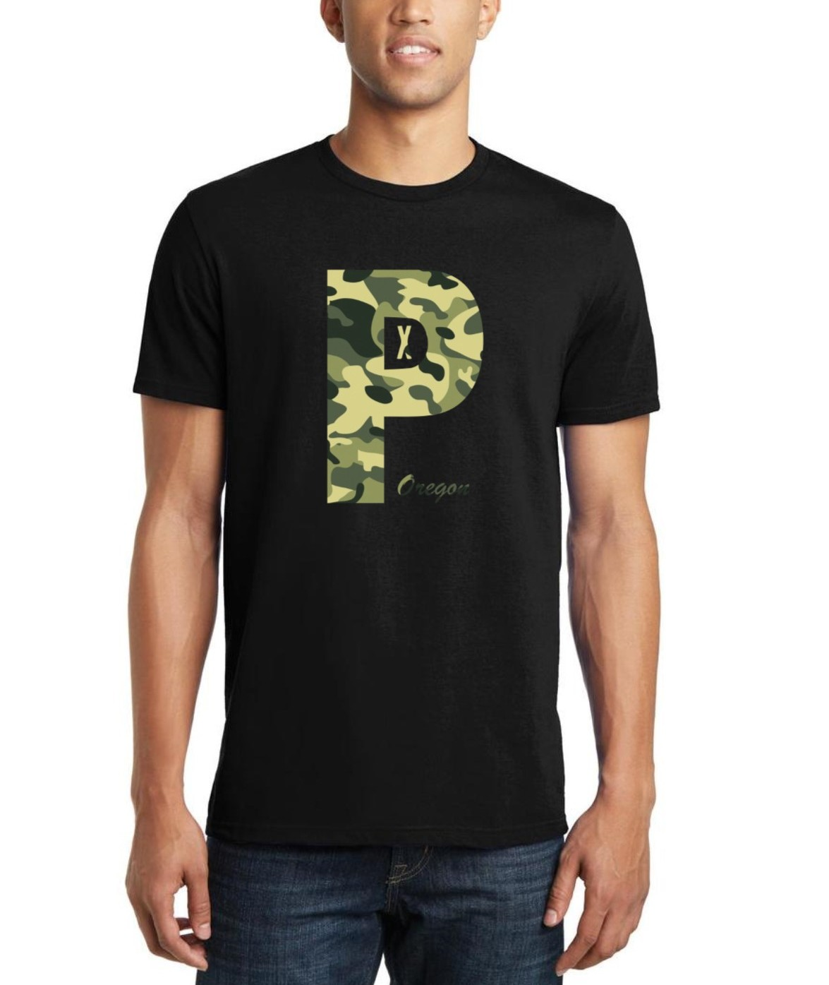 PDX Oregon - Camo - T Shirt