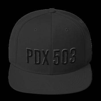 PDX 503 Hat - Black on Black