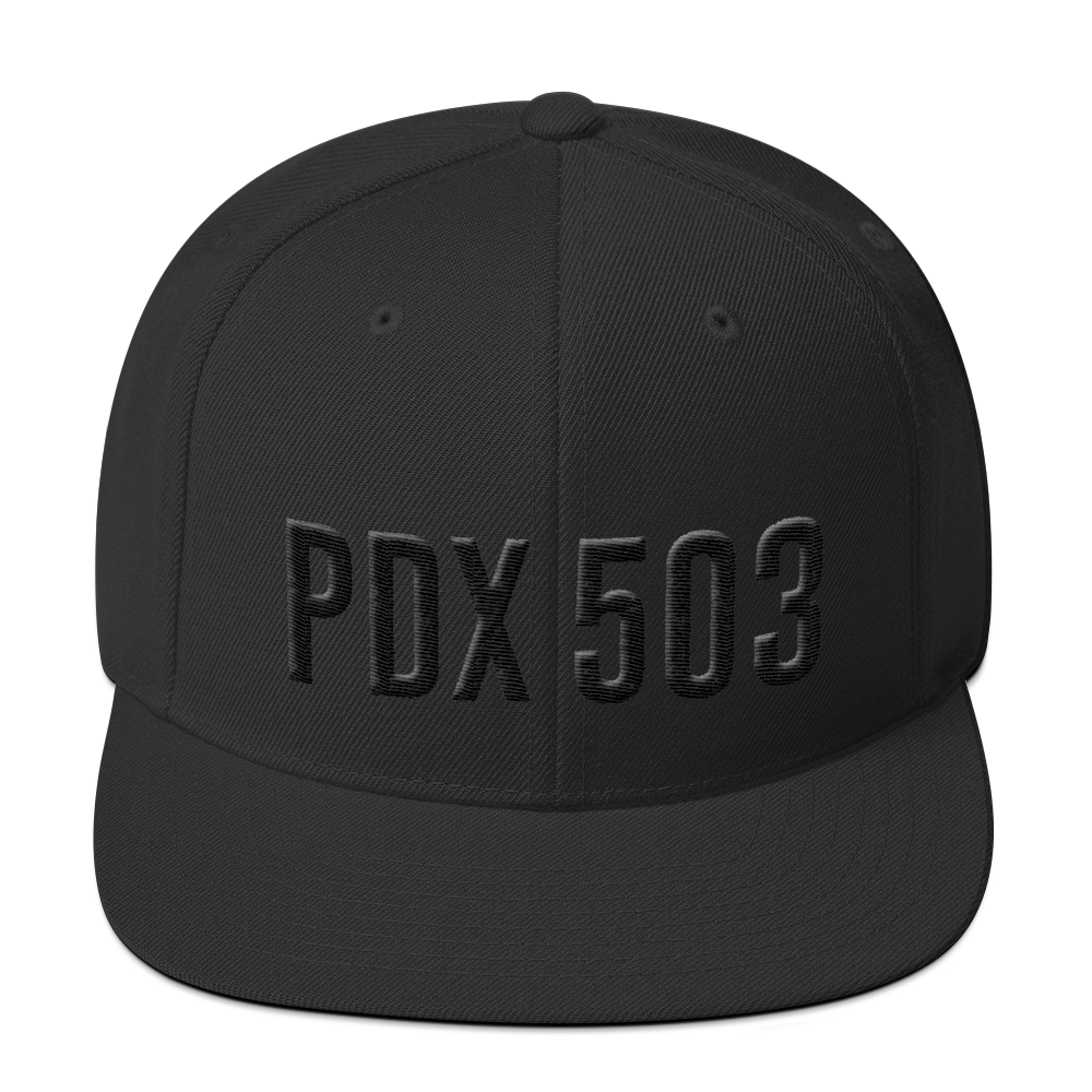 PDX 503 Hat - Black on Black