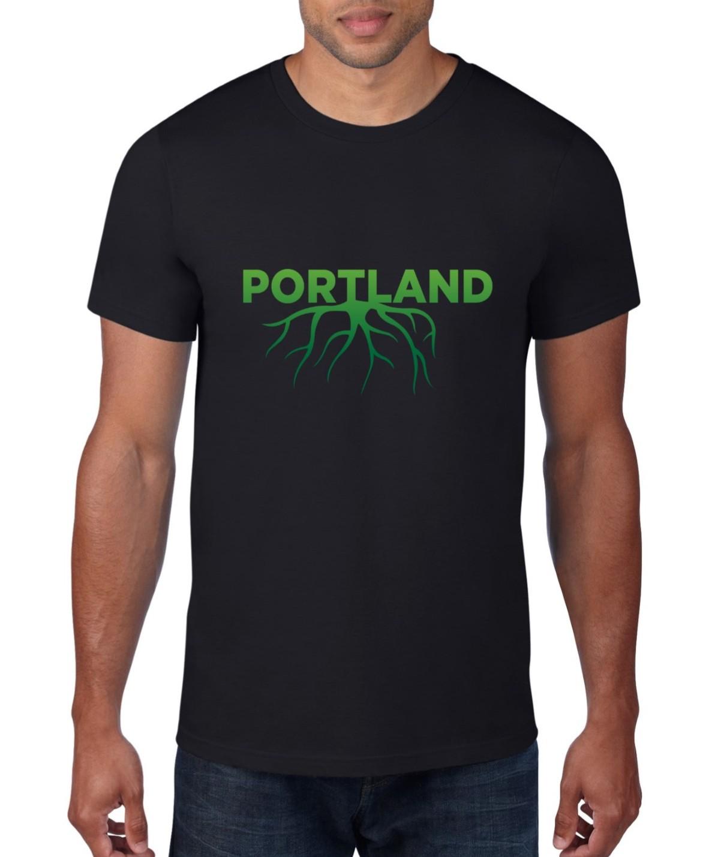 Portland Roots -T Shirt - Black