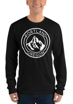 Portland Oregon - Unisex Fine Jersey Long Sleeve T-Shirt