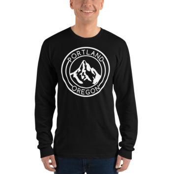 Portland Oregon - Unisex Fine Jersey Long Sleeve T-Shirt