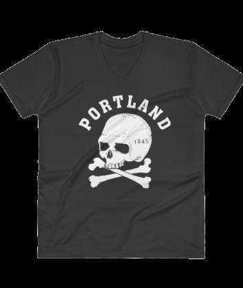 Portland Crossbones - V Neck - T Shirt