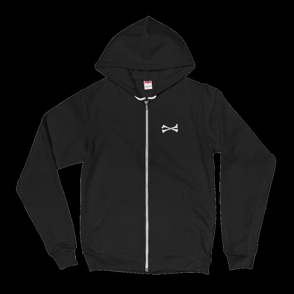Portland Crossbones - Zip Hoodie - Front