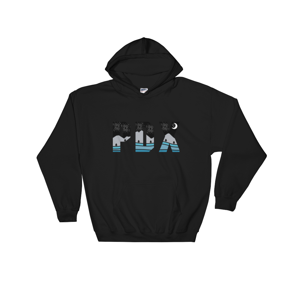 PDX Nights - Hoodie - Black