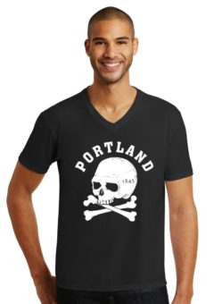Portland Crossbones - V Neck - T Shirt