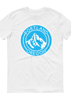 Portland Oregon - Mt Hood/Blue - T Shirt - White