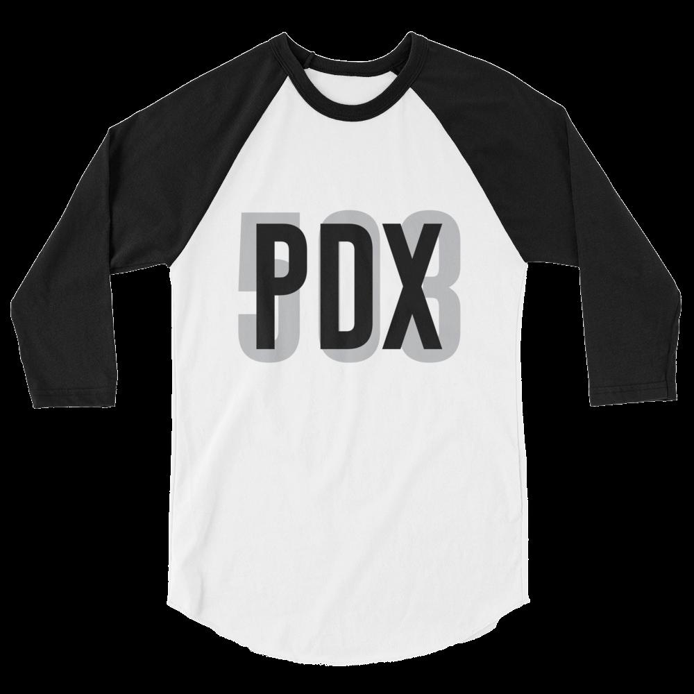 PDX 503 - Unisex Fine Jersey Raglan Tee