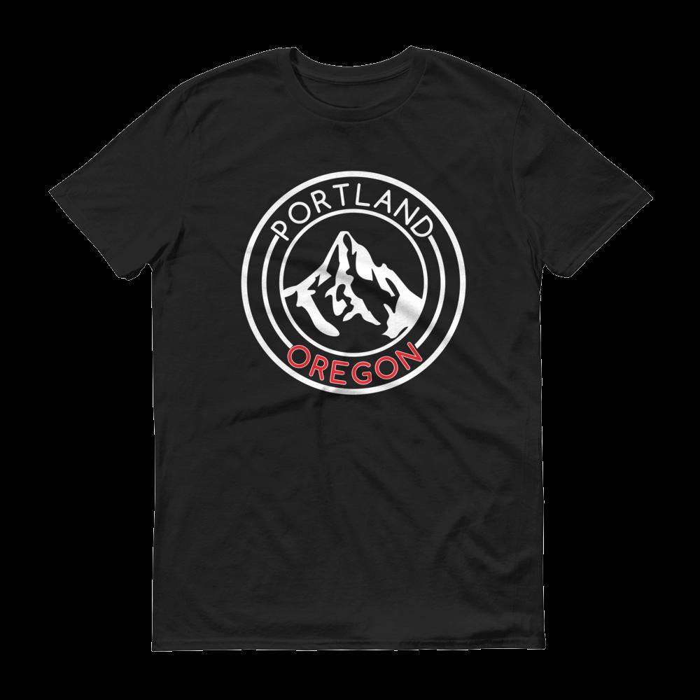 Portland Oregon – Mt Hood/Now – T Shirt - Red