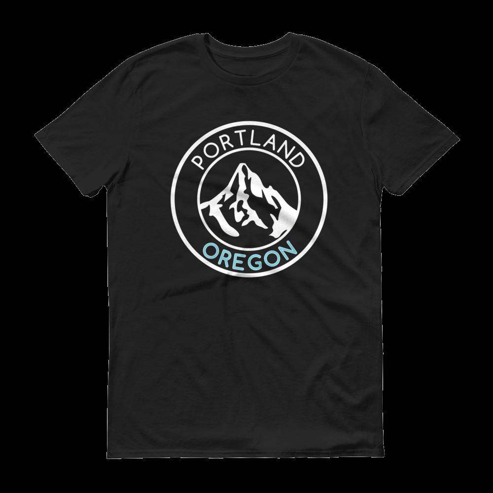 Portland Oregon – Mt Hood/Now – T Shirt - Blue