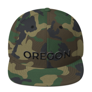 Oregon - Black on Camo Hat