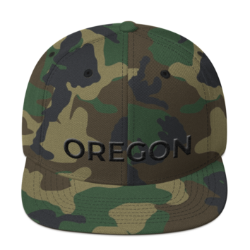 Oregon - Black on Camo Hat