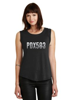PDX 503 - Mt Hood - Ladies' Cap Sleeve T-Shirt
