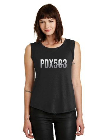 PDX 503 - Mt Hood - Ladies' Cap Sleeve T-Shirt