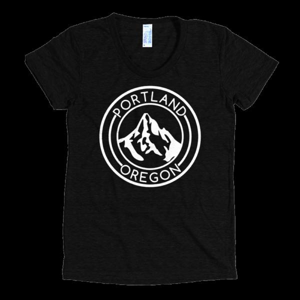 Portland Oregon - Mt Hood - Women's Tri-Blend T-Shirt - Black