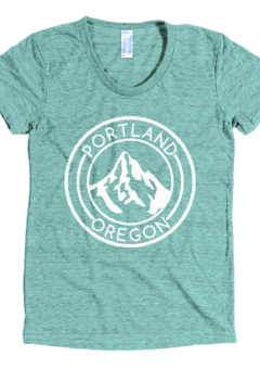 Portland Oregon - Mt Hood - Women's Tri-Blend T-Shirt