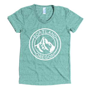 Portland Oregon - Mt Hood - Women's Tri-Blend T-Shirt