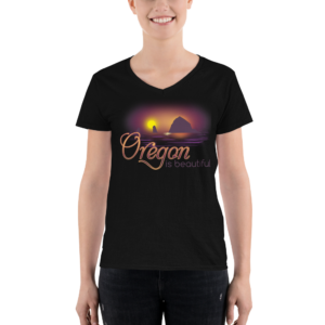 Oregon is Beautiful - Lightweight V-Neck T-Shirt